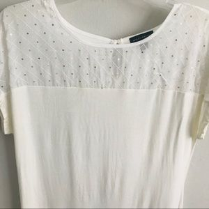 Willi Smith Tops - Willi Smith White Blouse - Size L